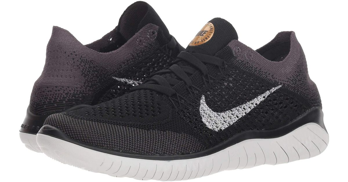 32b5ec41b7e2 Lyst - Nike Free Rn Flyknit (black vast Grey metallic Gold) Women s Shoes  in Black