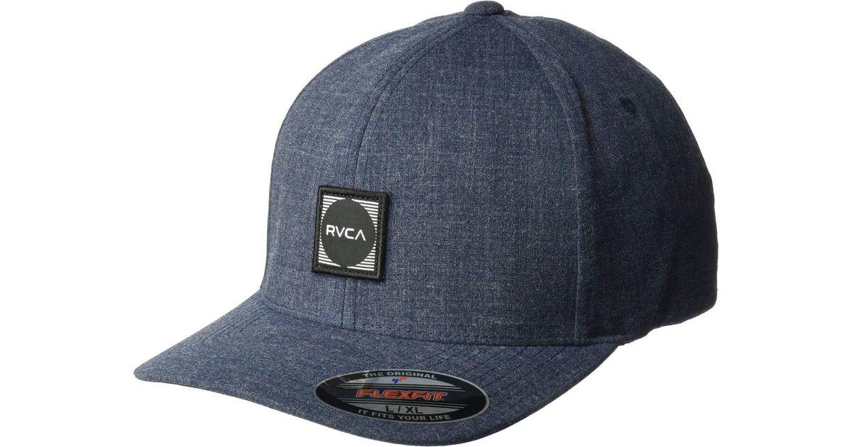 Lyst - RVCA Scores Flexfit Hat (black) Baseball Caps in Gray for Men 014395cfcc5