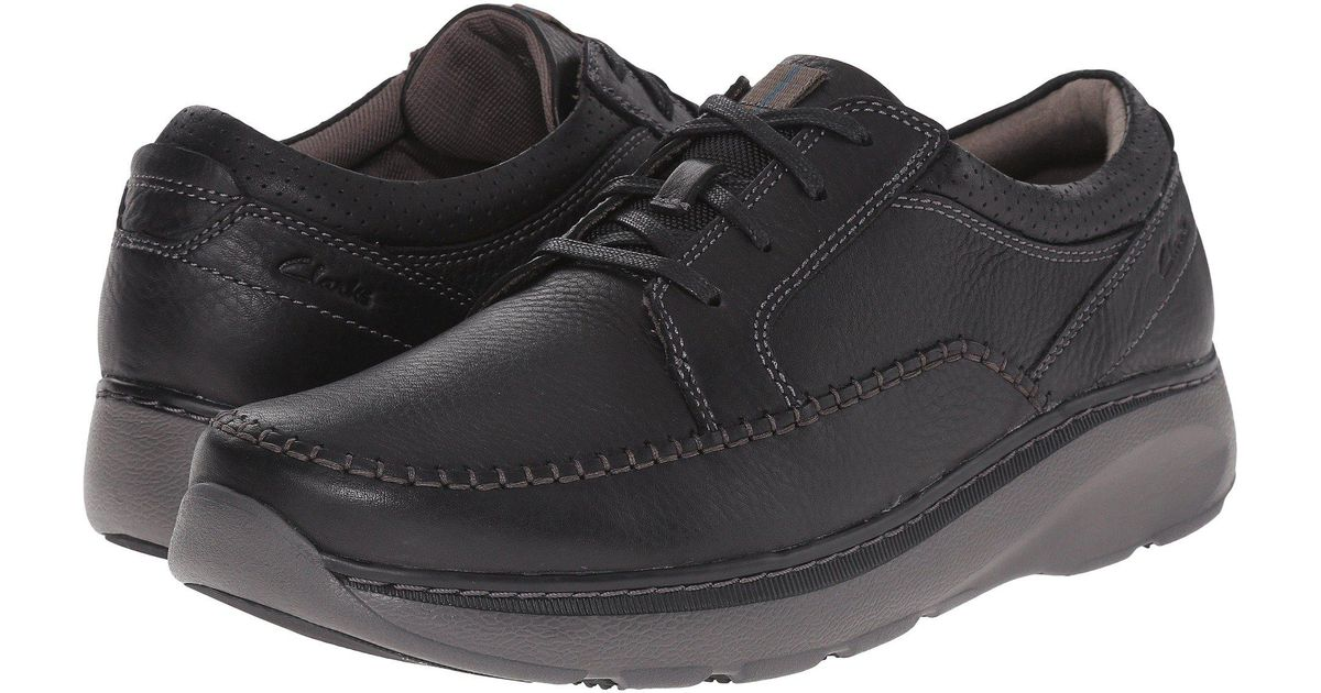 Clarks Multicolor Charton Vibe (black Leather) Men's Lace Up Casual Shoes for Men Lyst