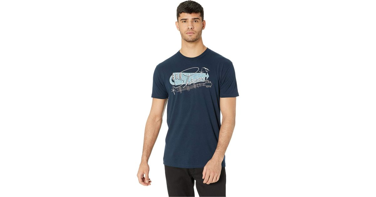 54aa2b95a Lyst - Ben Sherman Springs Resort Graphic Tee (midnight Navy) Men's Clothing  in Blue for Men