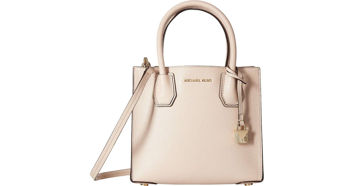 ef1beb34755 Lyst - Michael Michael Kors Mercer Medium Messenger (pearl Grey) Messenger  Bags in Pink