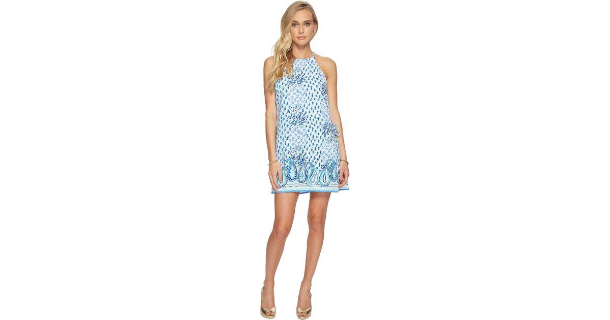 5bec6ca6bf01 Lyst - Lilly Pulitzer Pearl Romper in Blue