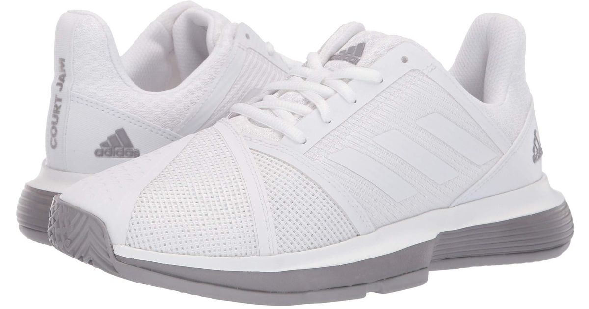206a315e3cda9 Lyst - adidas Courtjam Bounce (raw White footwear White matte Silver) Women s  Shoes in White