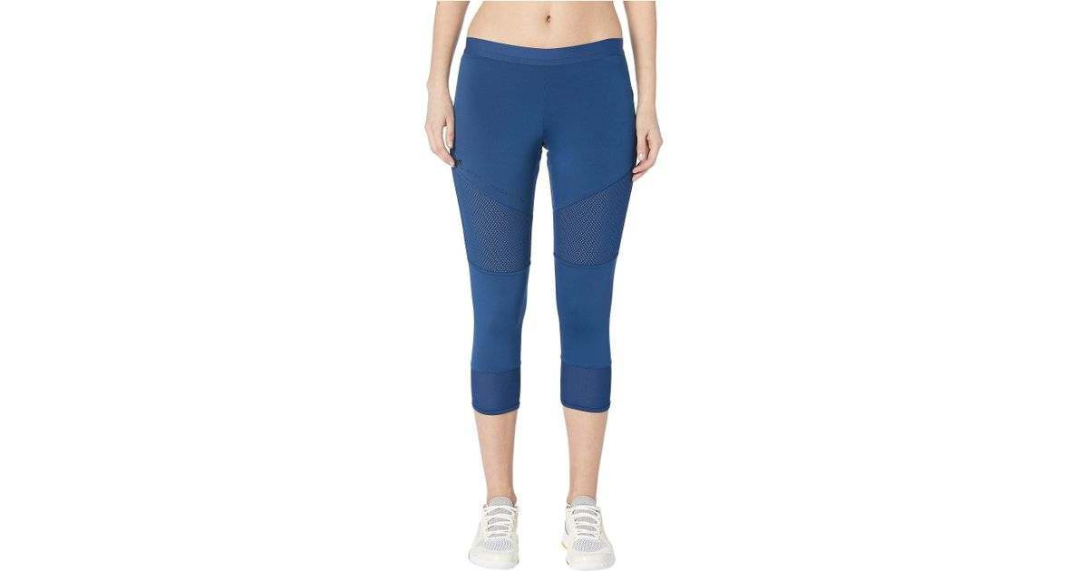 ad68610222 Lyst - adidas By Stella McCartney Performance Essentials 3/4 Tights Dt9323  (mystery Blue) Women's Casual Pants in Blue