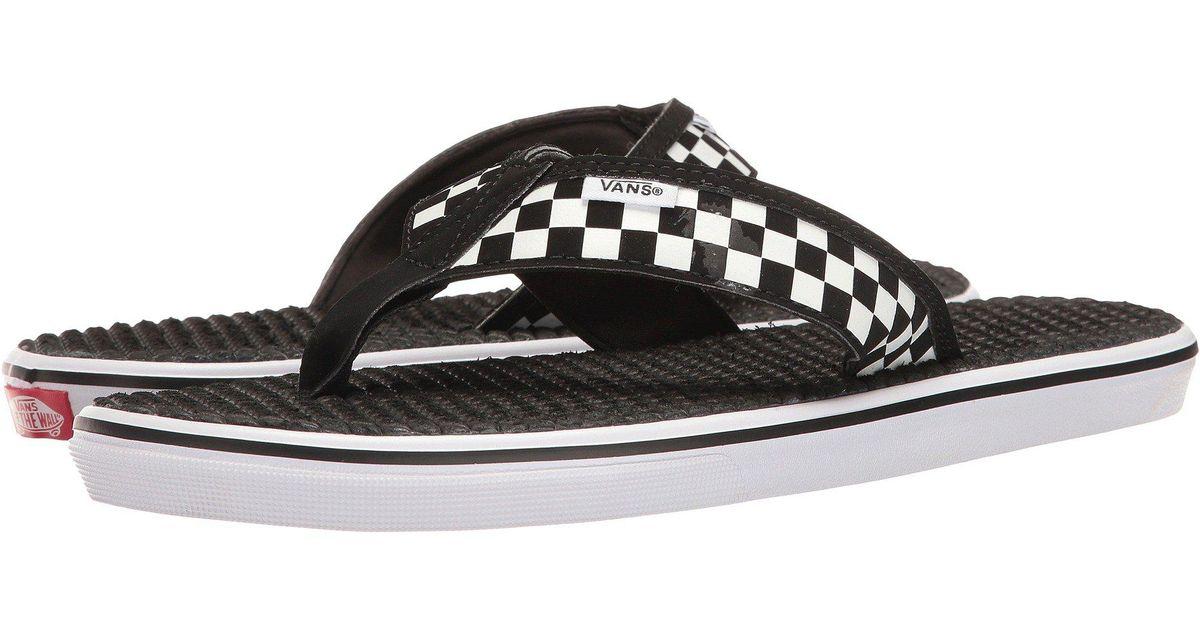 226ce7192186e4 Lyst - Vans La Costa Lite ((checkerboard) Black white) Men s Sandals in  Black for Men