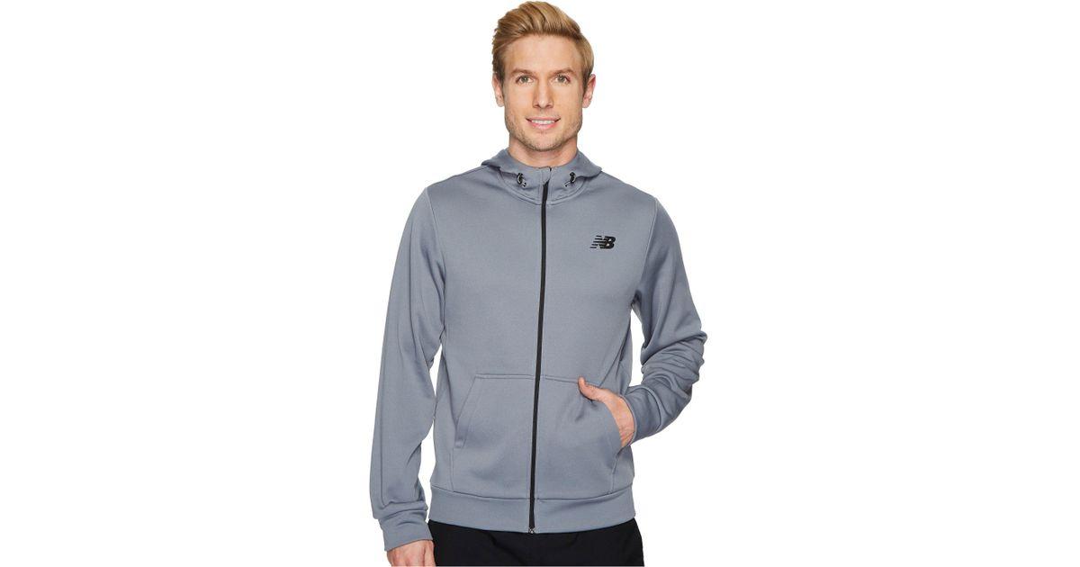 new balance men core fleece full zip hoodie