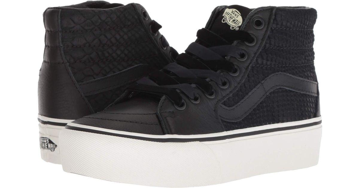 ed6fd610bc88 Vans Sk8-hi Platform 2.0 ((leather) Snake/black) Skate Shoes in Black for  Men - Lyst
