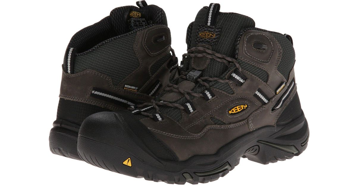 06d5ac9da72 Keen Utility - Black Braddock Mid Wp (cascade Brown/tawny Olive) Men's Work  Lace-up Boots for Men - Lyst