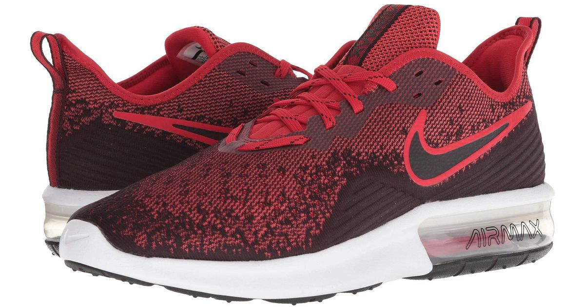 new arrivals 664eb bd4cf Nike Air Max Sequent 4 (black black anthracite) Men s Running Shoes in Red  for Men - Lyst