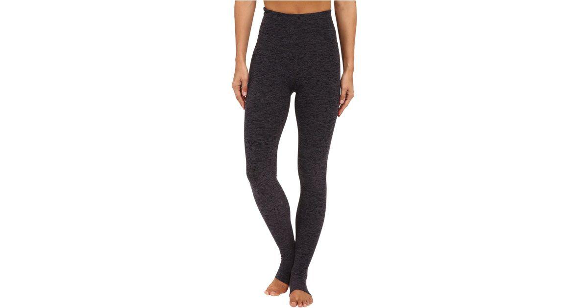 ccab511456692 Beyond Yoga High Waist Stirrup Leggings (black/charcoal Spacedye) Women's  Casual Pants in Black - Lyst