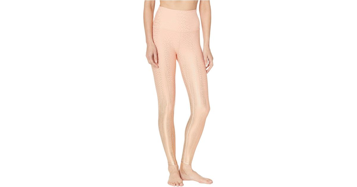971cafc13 Lyst - Beyond Yoga Drip Drop High-waisted Midi Leggings (coral Dust rose  Gold Drip Drop) Women s Casual Pants in Pink