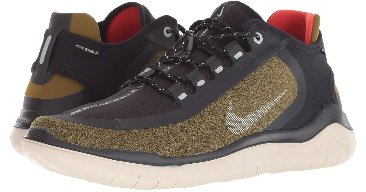 8cd402c5fdba0f Lyst - Nike Free Rn 2018 Shield (olive Flak metallic Silver black string) Men s  Running Shoes in Black for Men
