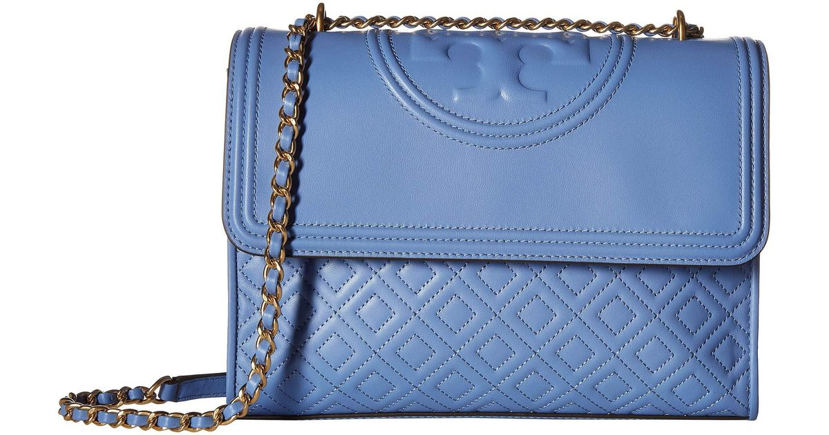 13fde98aa1ff Lyst - Tory Burch Fleming Convertible Shoulder Bag in Blue - Save 22%