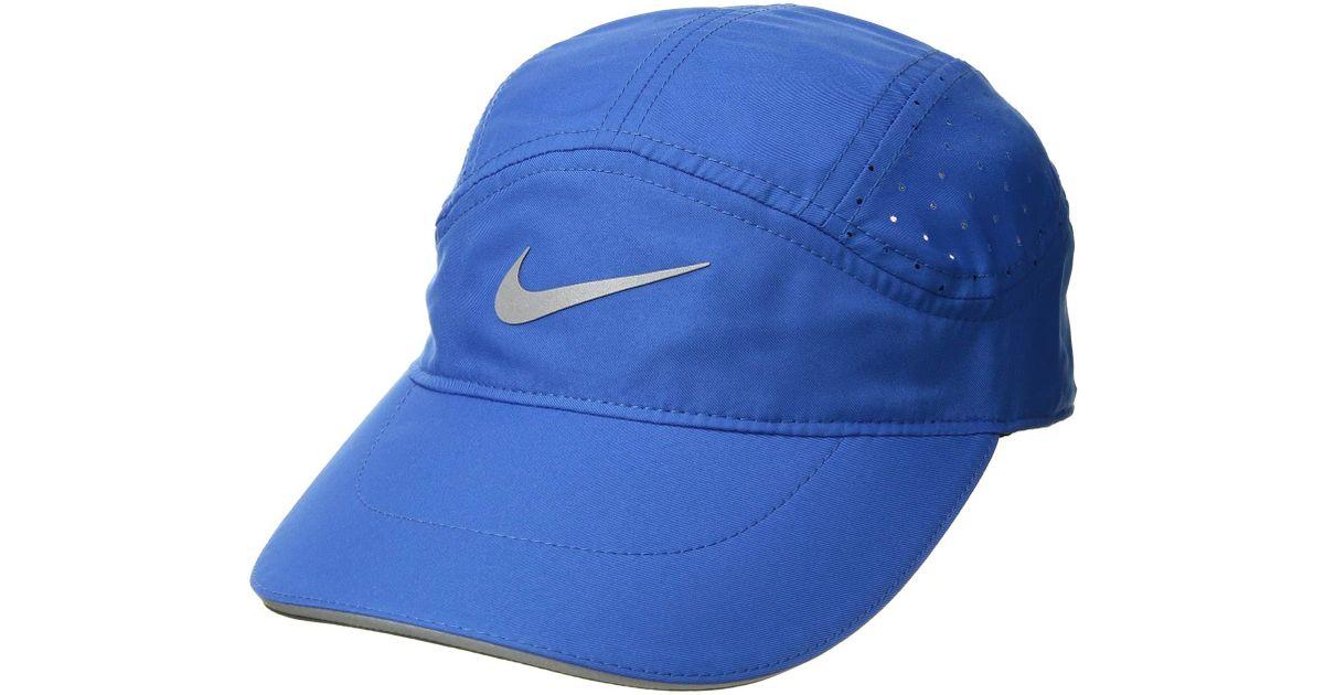 Lyst - Nike Aerobill Running Cap Elite (black black) Caps in Blue 17243e09735