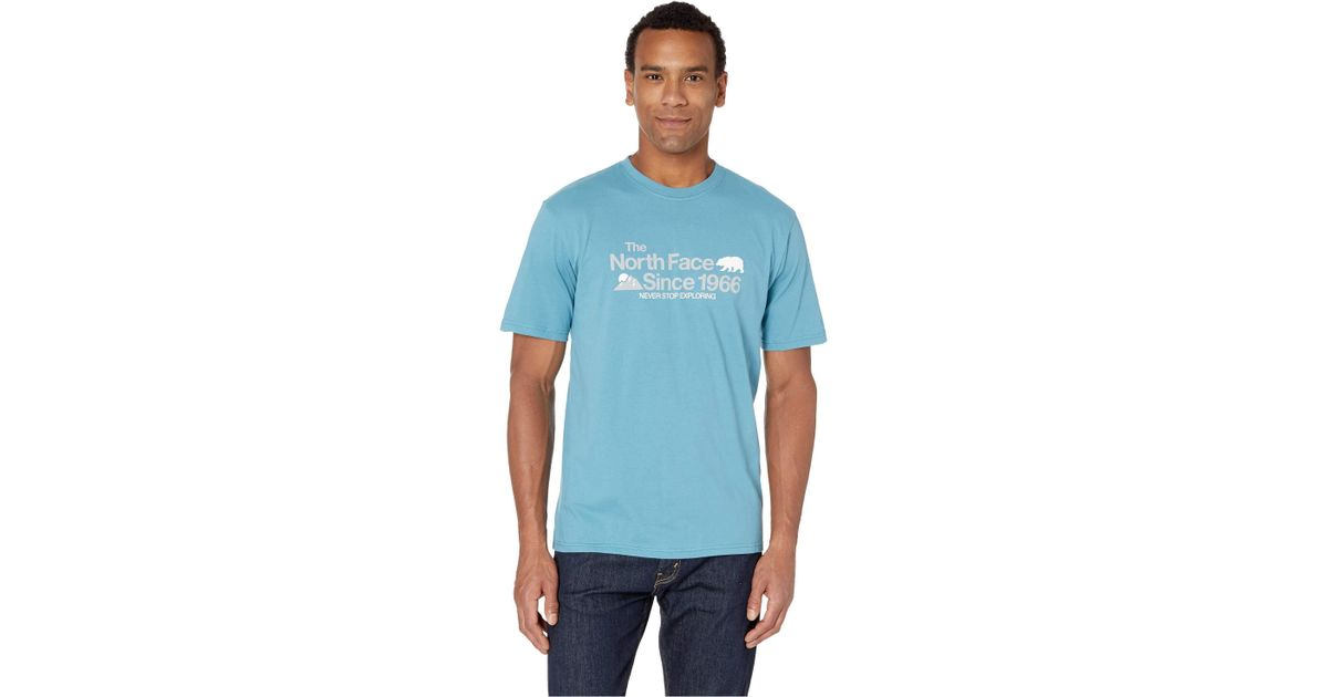 a21319dc2 The North Face Blue Short Sleeve Bearitage Rights Tee (tnf White) Men's T  Shirt for men