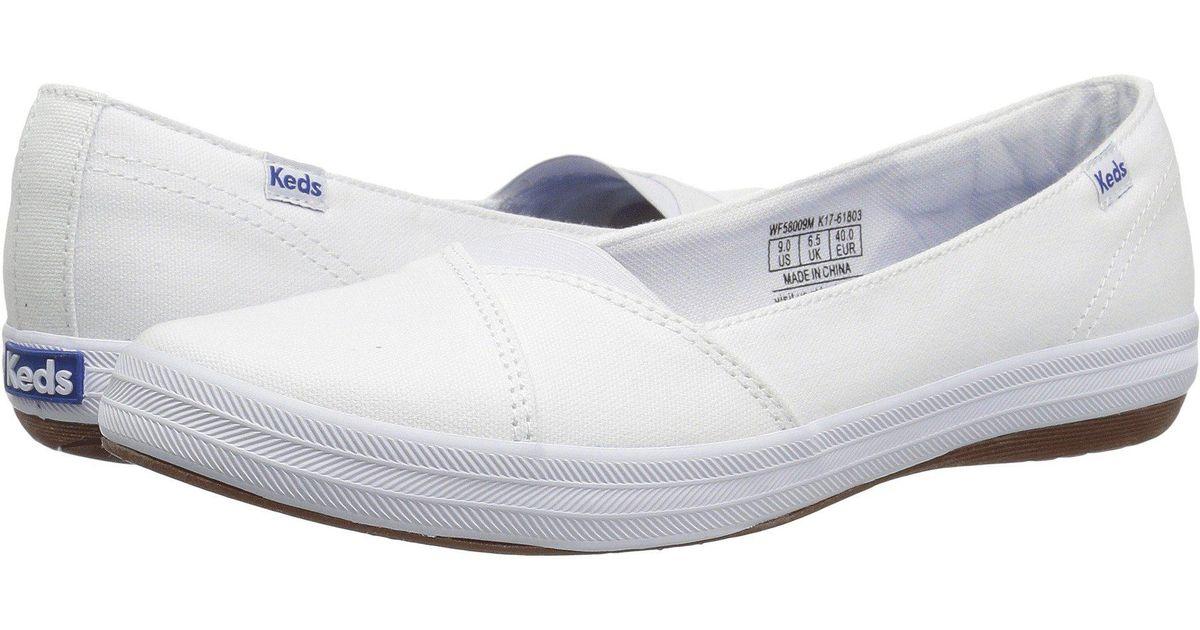 Keds Cali Ii Canvas (white) Flat Shoes