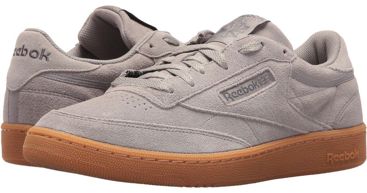 Club C Gs Sneaker 85 For Gray Reebok Men SVqzMpU