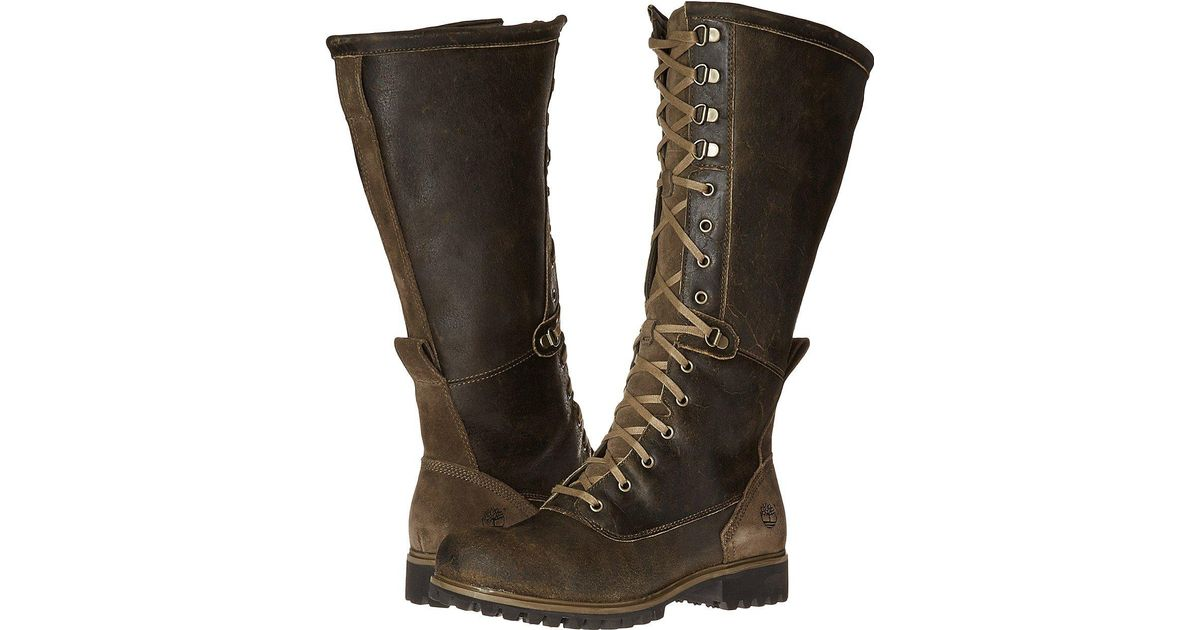 50a0e6f2e0f8c Timberland Wheelwright Tall Lace Waterproof Boot in Brown - Lyst