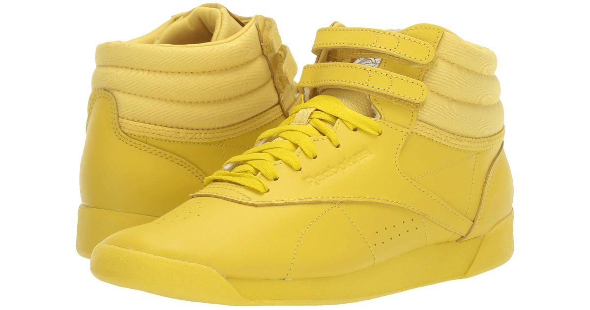 8e5de4fd Reebok Yellow Freestyle Hi