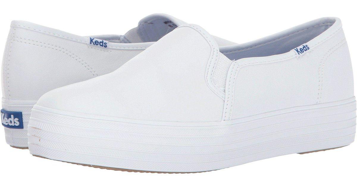 Keds Triple Decker Leather in White - Lyst