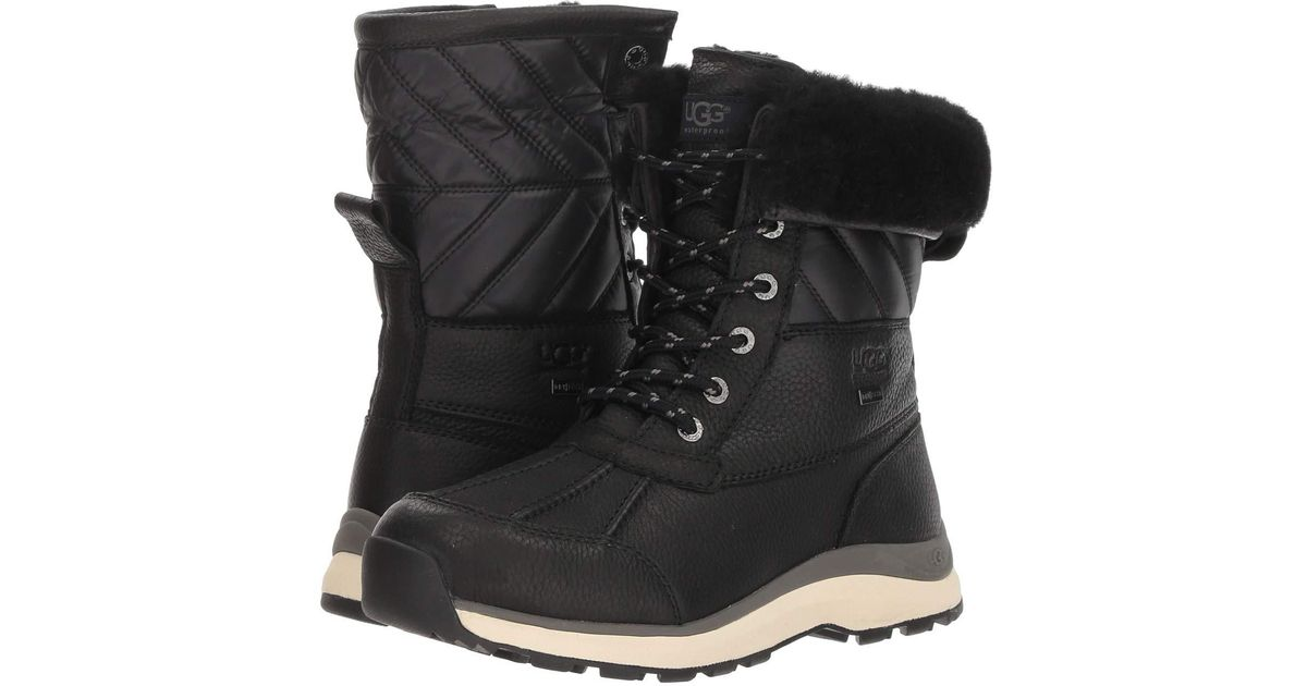 fe96a9918f0 Ugg Adirondack Quilt Boot Iii (black) Women's Cold Weather Boots
