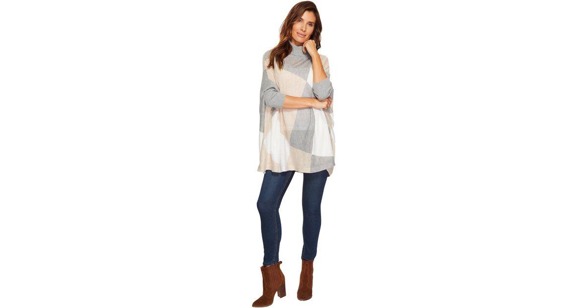 8338b4ab4d Lyst - Calvin Klein Turtleneck Cape Sweater