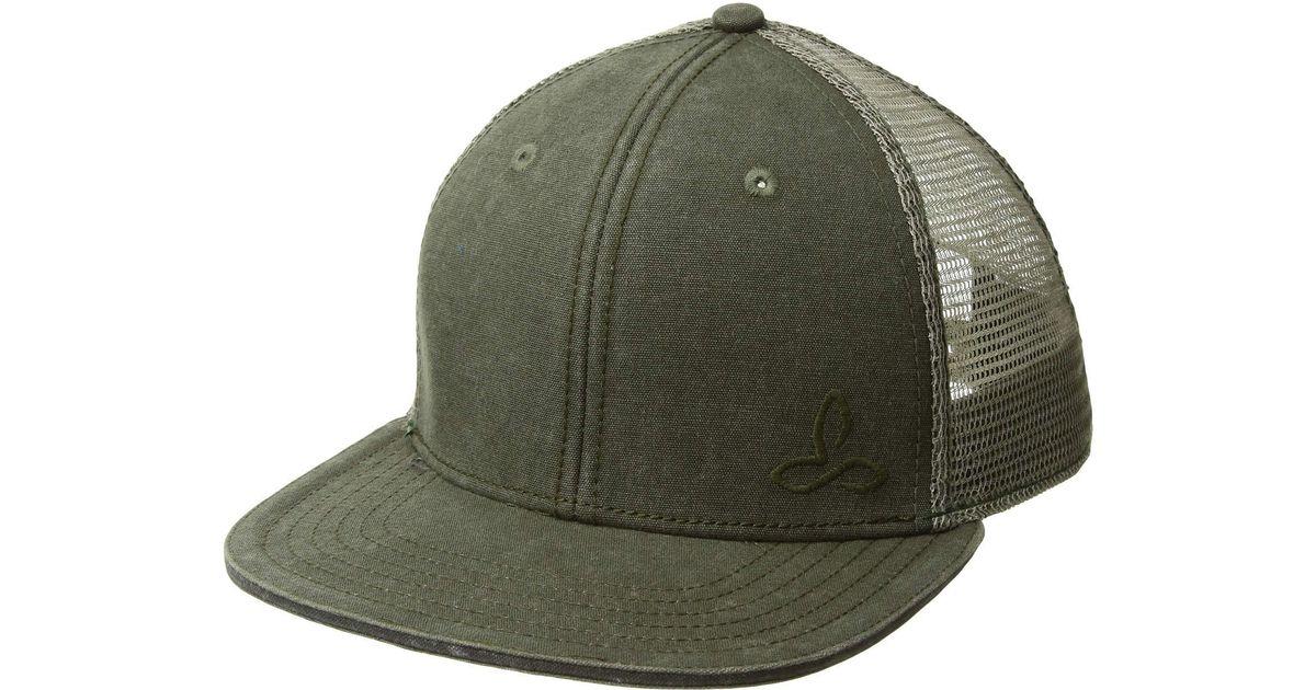 Lyst - Prana Karma Trucker Hat (cargo Green) Caps in Green for Men e8d21dc37df9