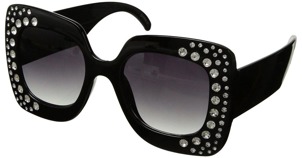 55039432fd Lyst - Steve Madden Bling (black) Fashion Sunglasses in Black
