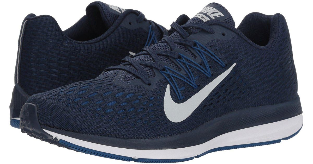 new product f9425 f3003 Nike Blue Air Zoom Winflo 5 (midnight Navy/pure Platinum) Running Shoes for  men