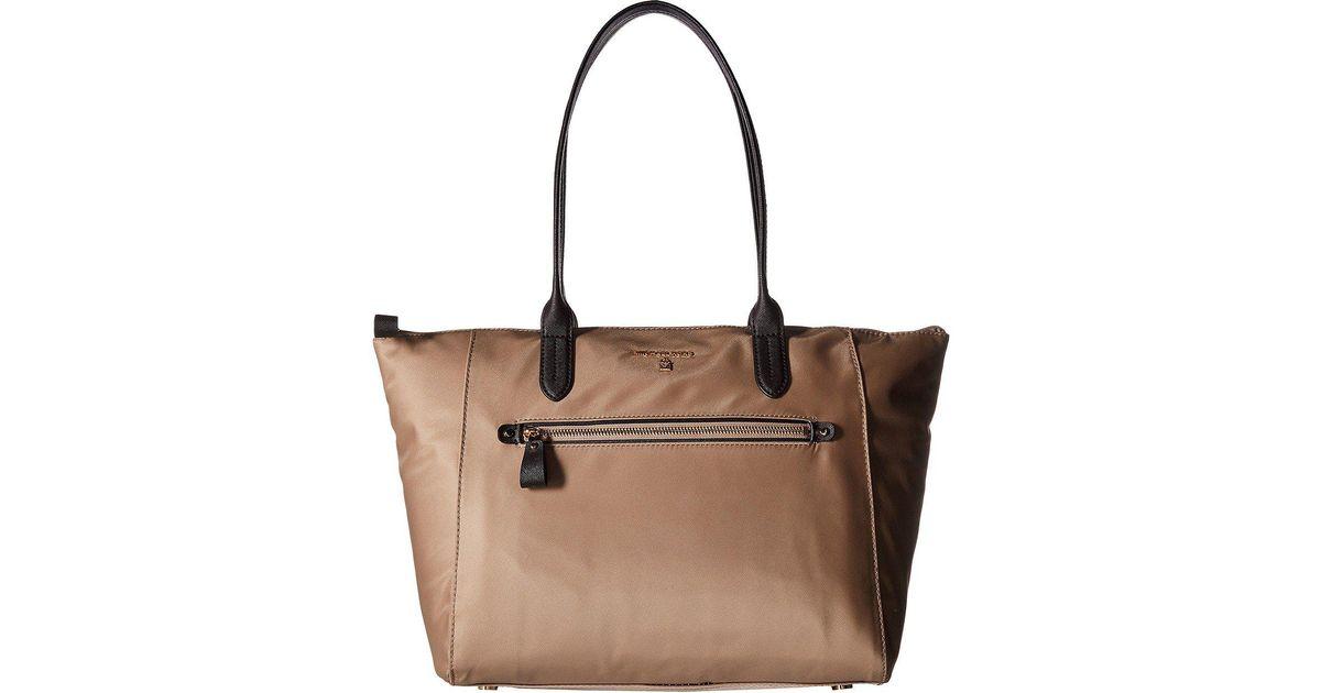 84010f8642b1 MICHAEL Michael Kors Nylon Kelsey Large Top Zip Tote (black) Tote Handbags  in Brown - Lyst