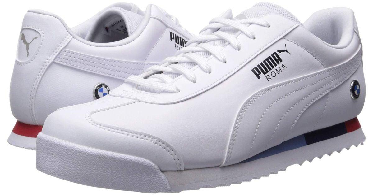 PUMA Leather Bmw Mms Roma ( White
