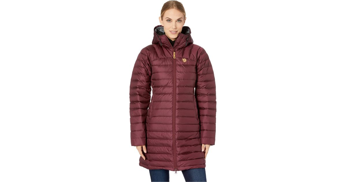 790aef36aa6d Fjallraven Snow Flake Parka (dark Garnet) Women s Coat in Red - Lyst