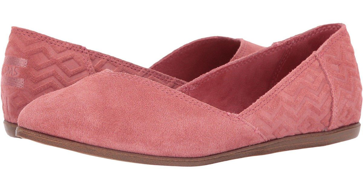 TOMS Suede Jutti Flat in Pink - Lyst