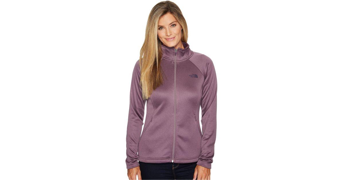 dba3b2440 The North Face Purple Agave Full Zip (black Plum Heather) Women's Sweatshirt