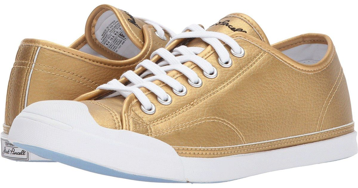 Converse Jack Purcell® Lp Metallic Leather Ox - Lyst