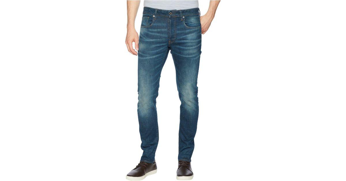 643ac616067 G-Star RAW 3301 Slim Jeans In Medium Aged Beln Stretch Denim in Blue for  Men - Save 9% - Lyst