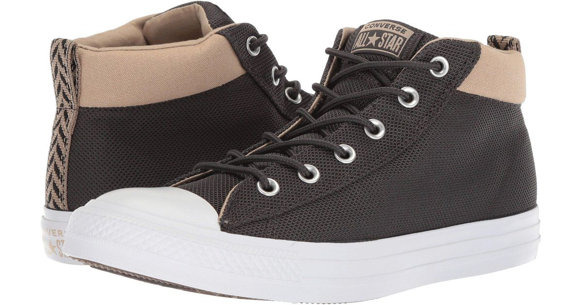 e5f60af25fe4d2 Lyst - Converse Chuck Taylor All Star Street Mid in Black - Save 13%