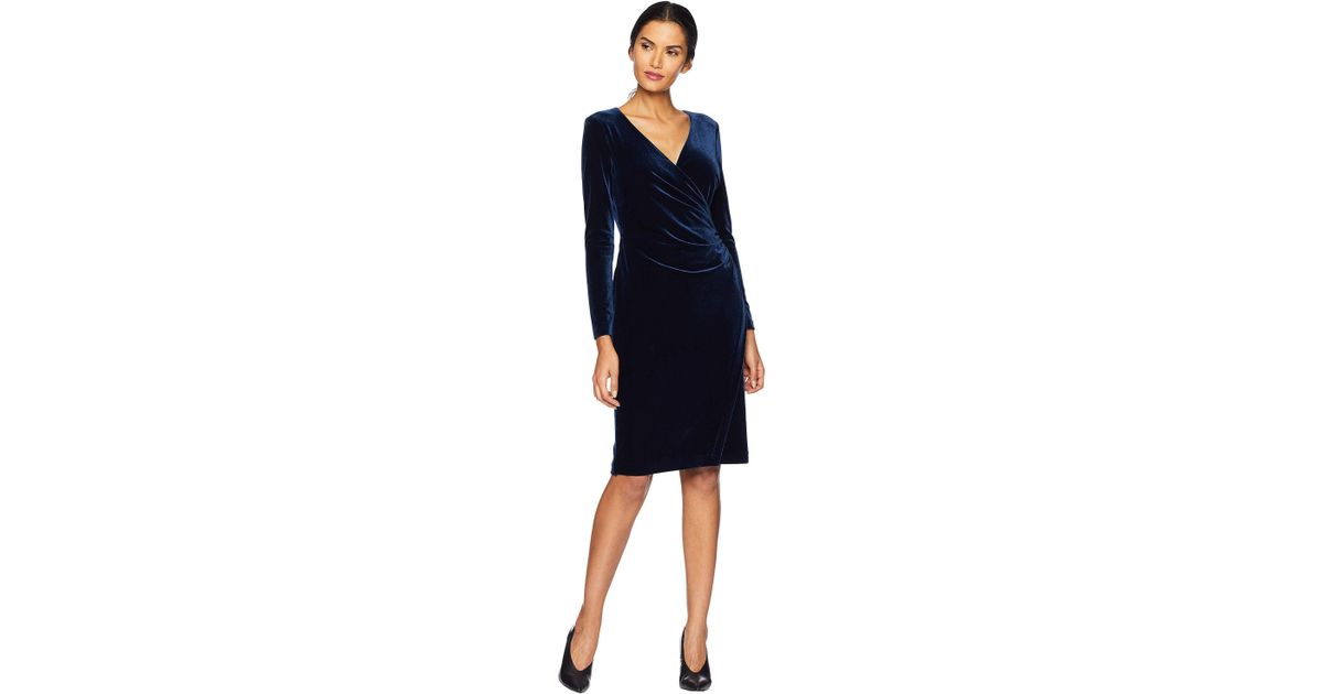 Dress Ralph 36 Lyst Save Lauren By In Blue Torelana FfFICqw