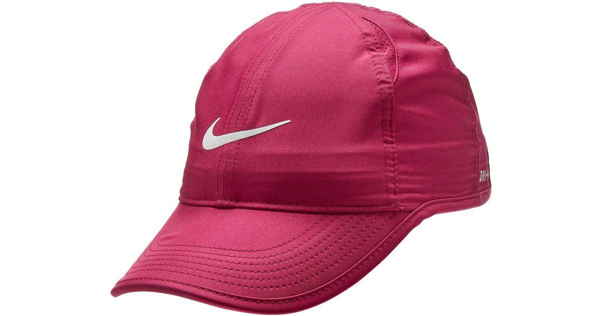 Lyst - Nike Featherlight Cap - Women s (atmosphere Grey black white) Baseball  Caps af55bd2d8