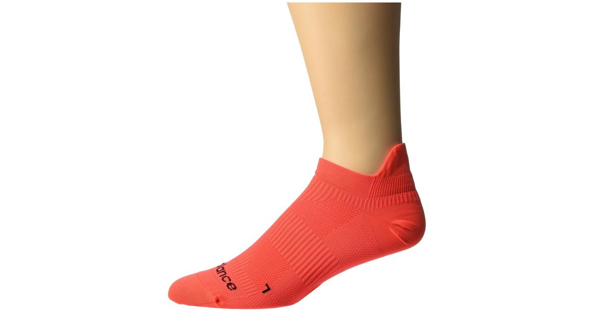 c622ba38511d2 Lyst - New Balance Run Flat Knit No Show 1-pair (black) No Show Socks Shoes  in Red for Men