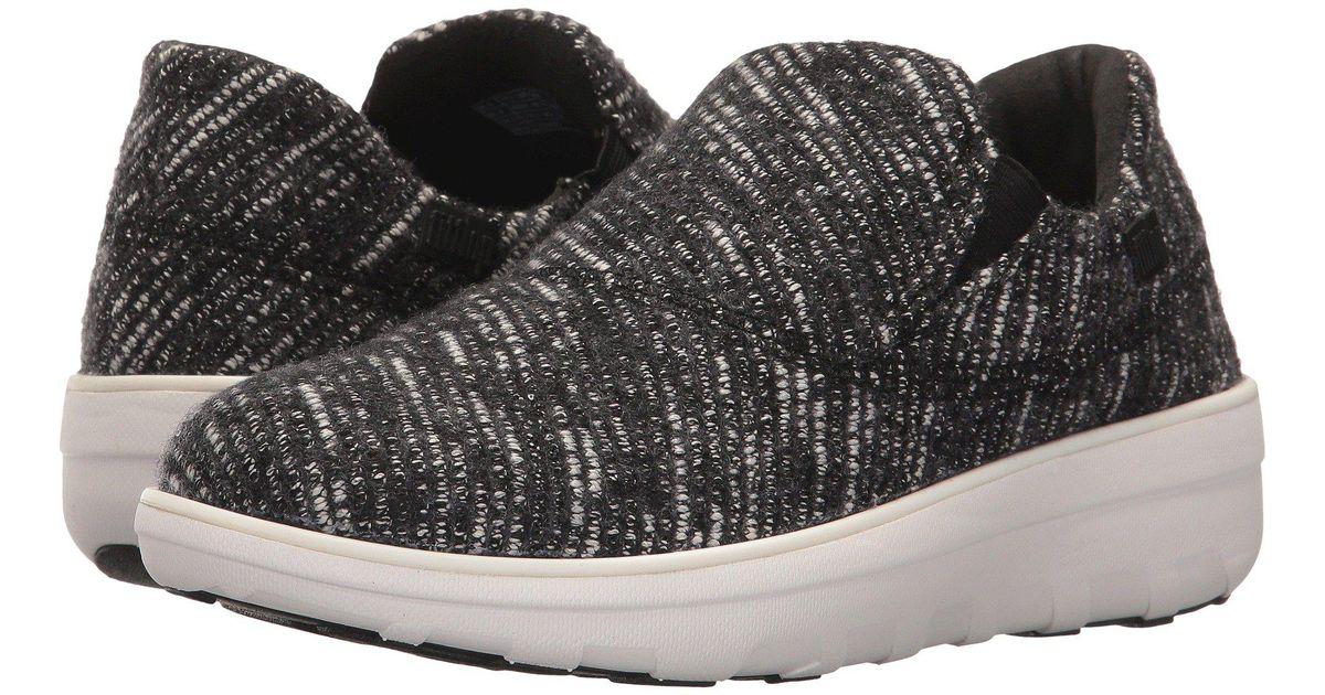 92e9218a67a1a7 Lyst - Fitflop Loaff Sporty Slip-on Sneaker in Black