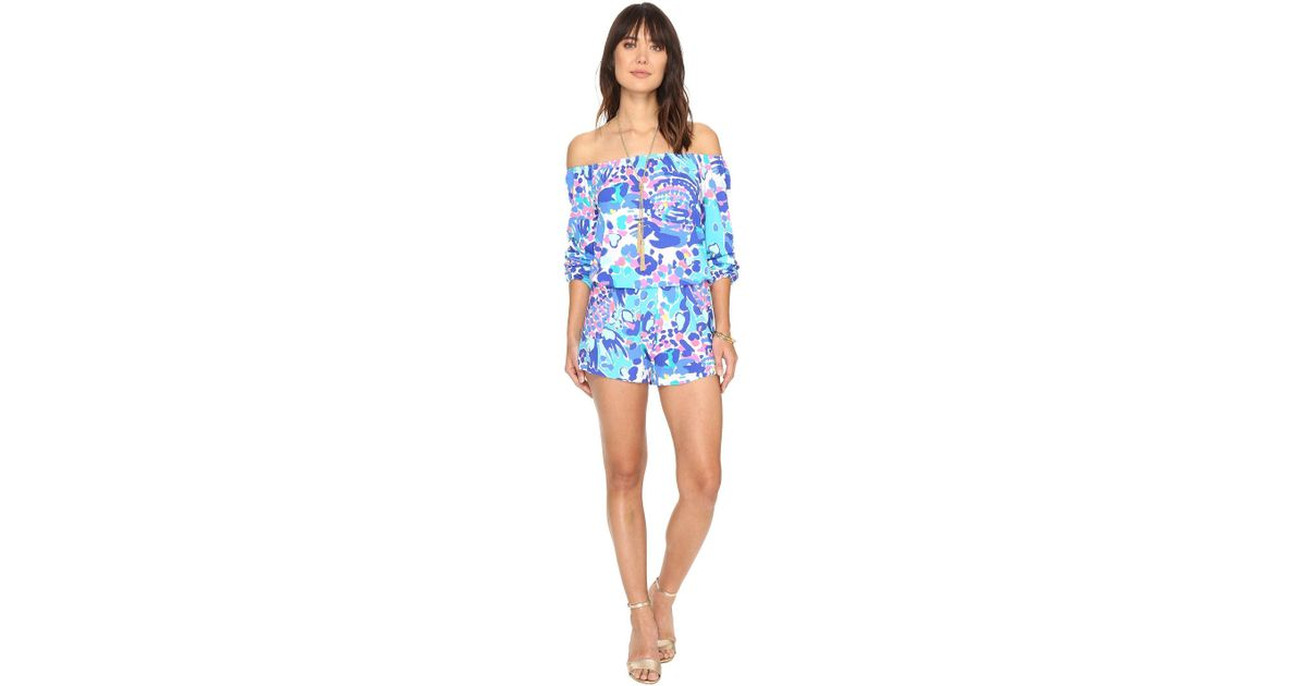 4fd84f677974 Lyst - Lilly Pulitzer Lana Romper (tiki Pink Beach Bliss) Women s Jumpsuit    Rompers One Piece in Blue