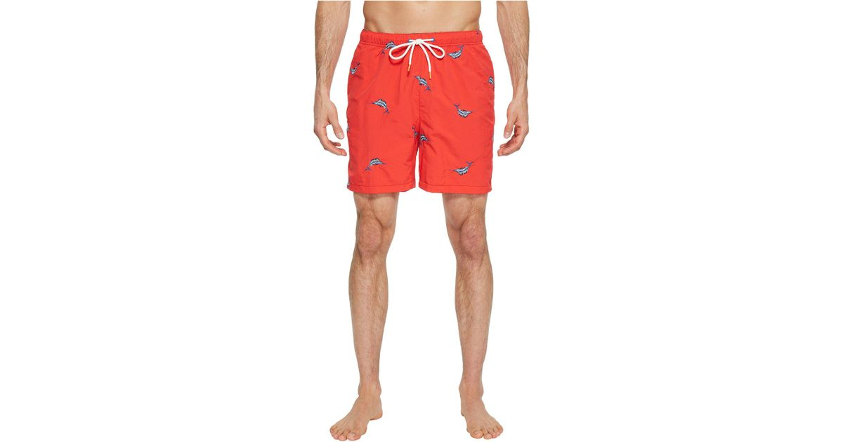 03c13b3253 Tommy Bahama Naples Marlin Coast Swim Trunk (red Cherry) Swimwear in Red  for Men - Save 23% - Lyst