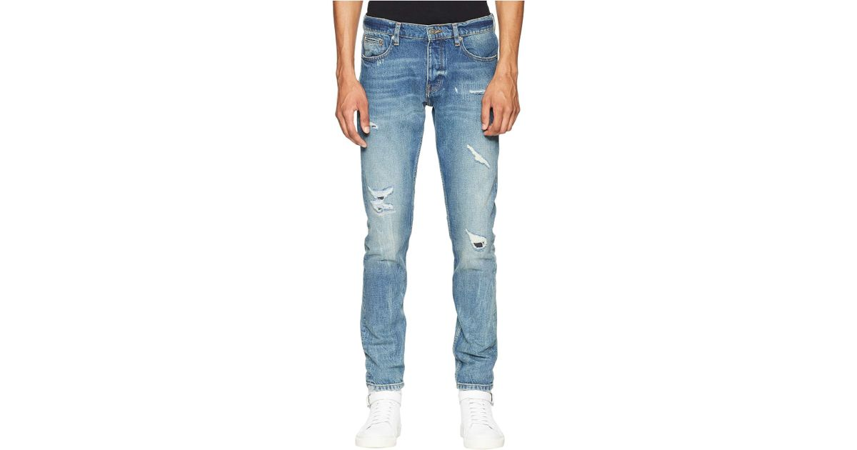 29bc8020c3ae Lyst - The Kooples Distressed Jeans In Light Blue (light Blue) Men s Jeans  in Blue for Men