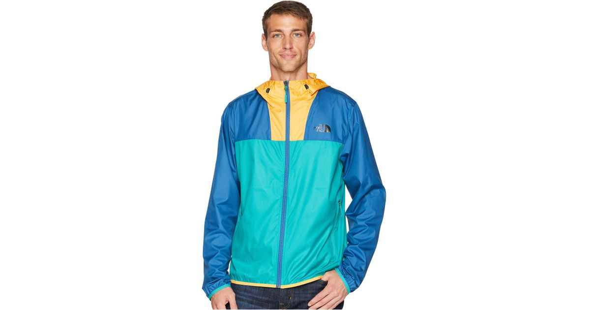 857152304 The North Face Blue Cyclone 2 Blocked Hoodie for men