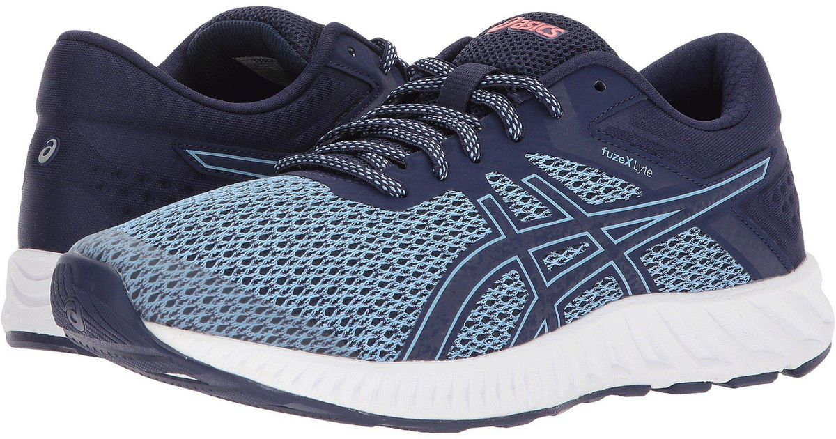 d3acfc399b0f Lyst - Asics Fuzex Lyte 2 (indigo Blue frosted Rose) Women s Running Shoes  in Blue