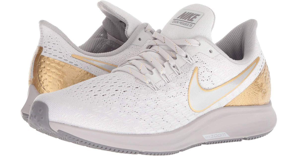 d161acd169aa9 Lyst - Nike Air Zoom Pegasus 35 Premium (vast Grey metallic Platinum atmosphere  Grey) Women s Running Shoes in Gray