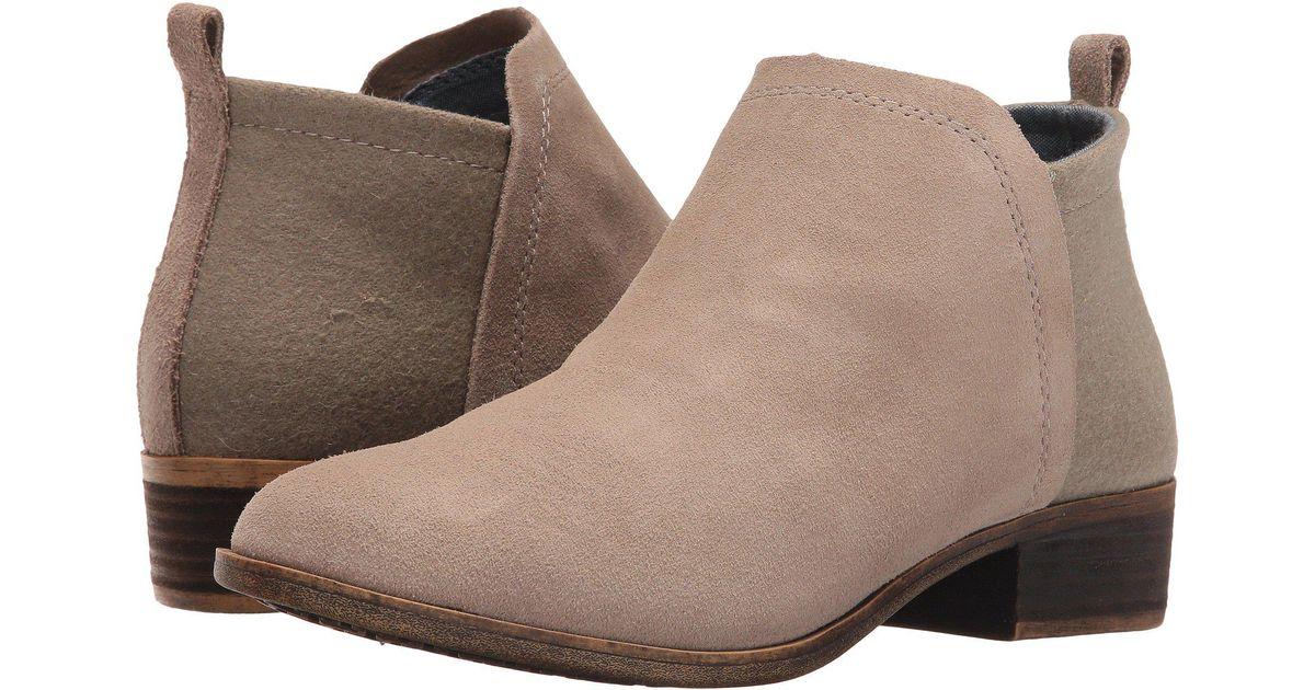 6c0aba16118 Lyst - TOMS Deia Bootie (desert Taupe Suede wool) Women s Boots in Gray