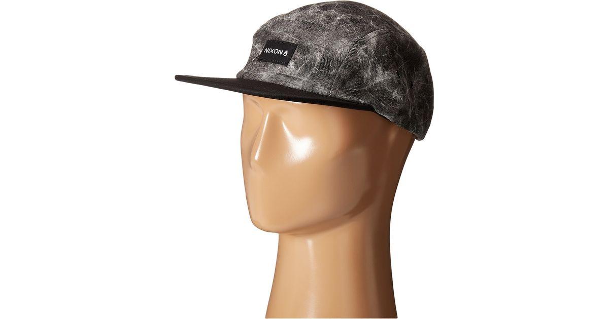c2d2af317ae Lyst - Nixon Tide 5 Panel Hat for Men