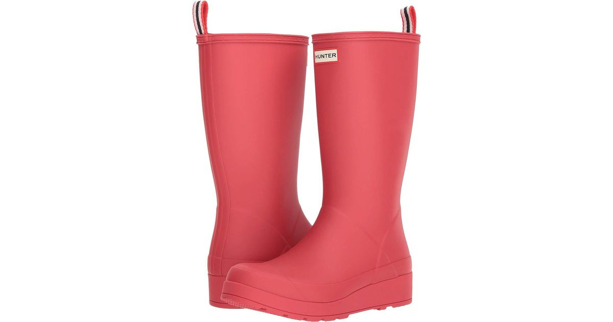 942462ef1cf Hunter Pink Original Play Boot Tall Rain Boots ( White) Women's Rain Boots